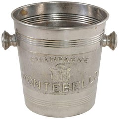 Early 20th Century French Silver Plate Champagne Bucket Marked Montebello