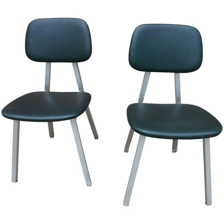 Pair of Mid-Century Modern Industrial Chairs