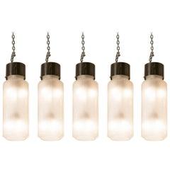 1957, Five Pendant Lights by Caccia Dominioni for Azucane