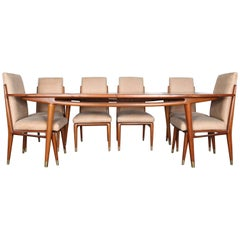 Eugenio Escudero 1960s Mahogany Dining Table and Chairs from Mexico