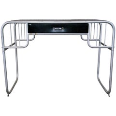 MCM Small Bauhaus Style Unidentified Metal Desk