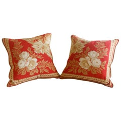 Pair of Neoclassical Style Throw Pillows