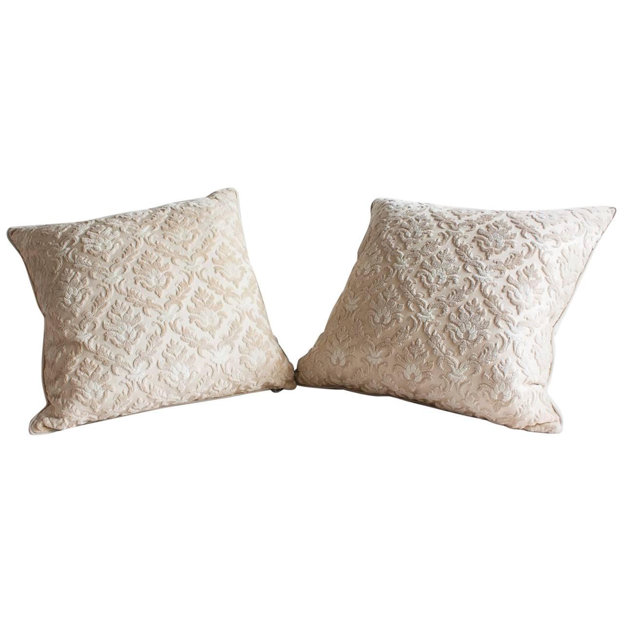 Pair of Louis XVI-style Throw Pillows