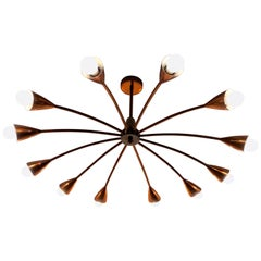 Brown Evans and Co. 'BECO' Copper Chandelier for Anatol Kagan, Melbourne 1950s
