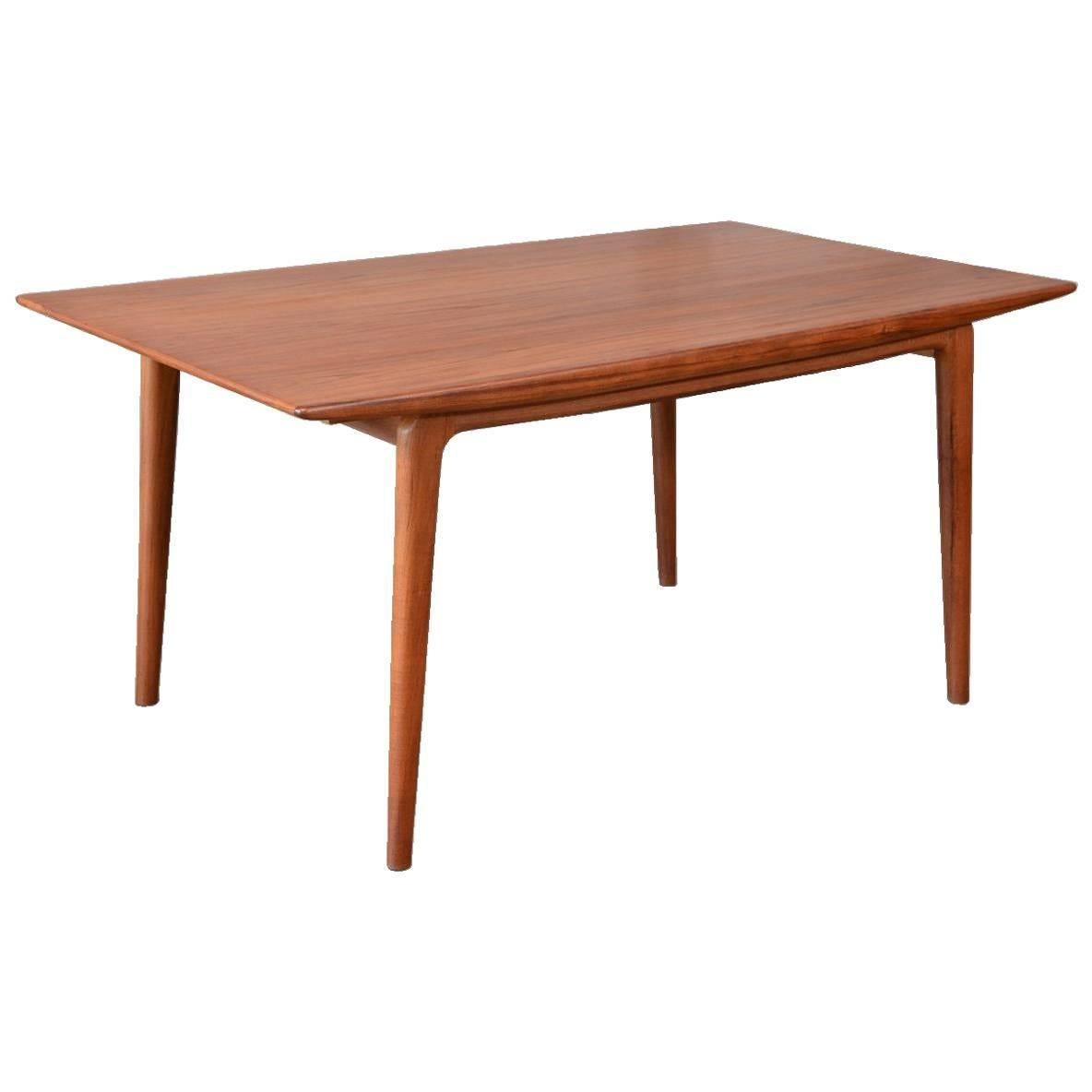 Teak Extension Dining Table By Erik Christensen