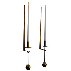 Pair of Candle Sconces by Pierre Forssell for Skultuna
