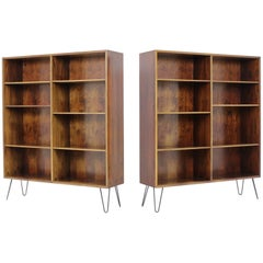 1960 Set of Two Danish Upcycled Palisander Bookcases