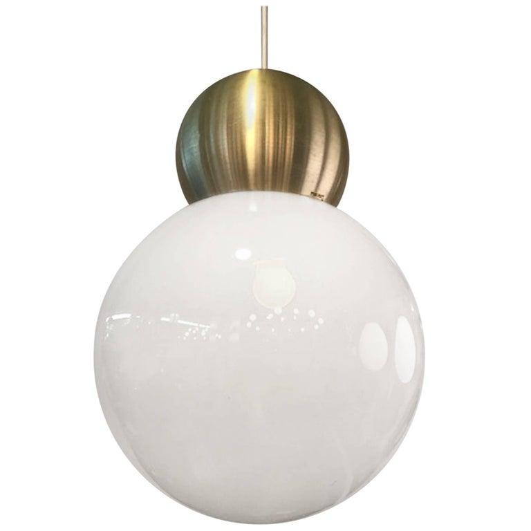 Stilux Milano 1970s Large Globe Pendant Light For Sale