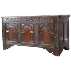 Antique Oak Coffer, 18th Century