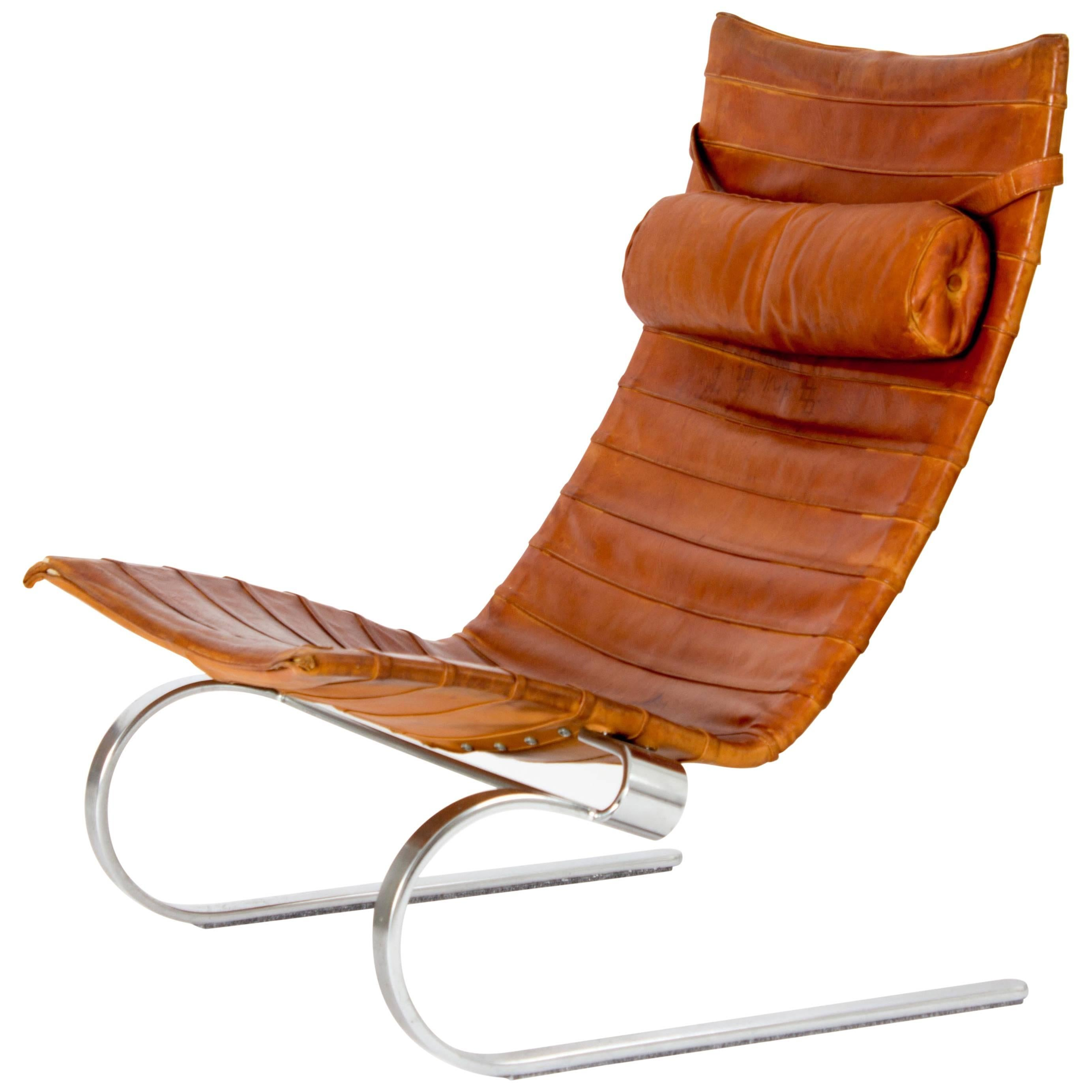 Exceptionnel Early Cognac PK20 Lounge Chair By Poul Kjaerholm, Denmark, 1960 For Sale