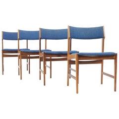 Set of Four Scandinavian Palisander Dining Chair, circa 1960