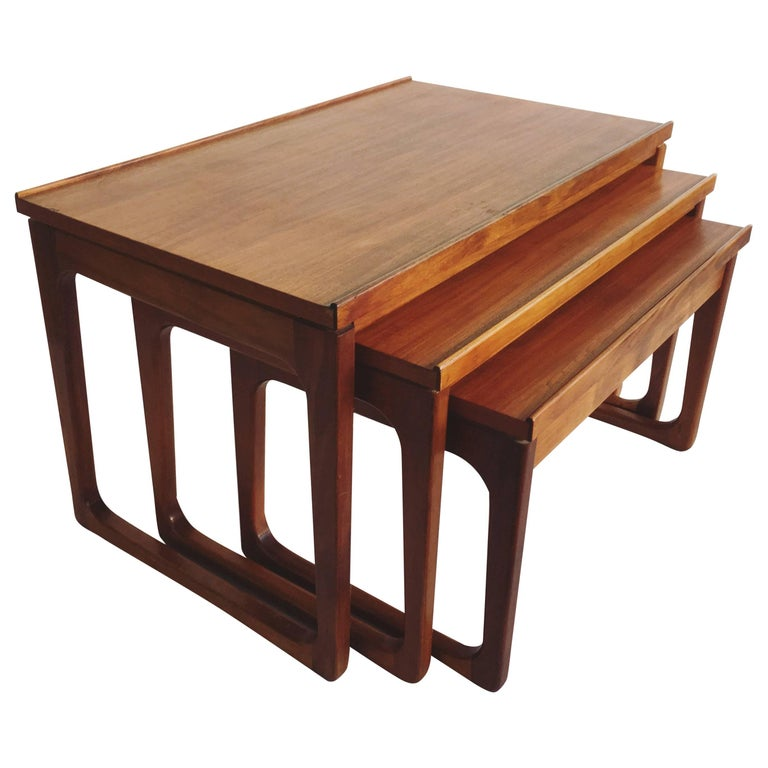 Mid-Century Gerald Easden Nest of Tables for Module, 1960s