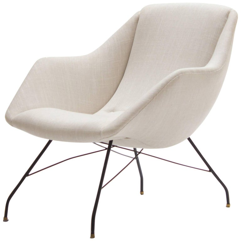 Ivory Lounge Chair by Carlo Hauner and Martin Eisler, Brazil, 1960s