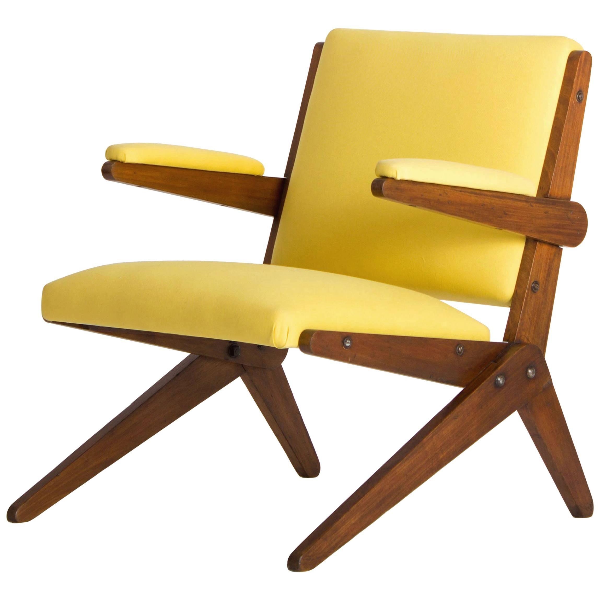 Yellow Lounge Chair By Lina Bo Bardi For Studio D´Arte Palma, Brazil,