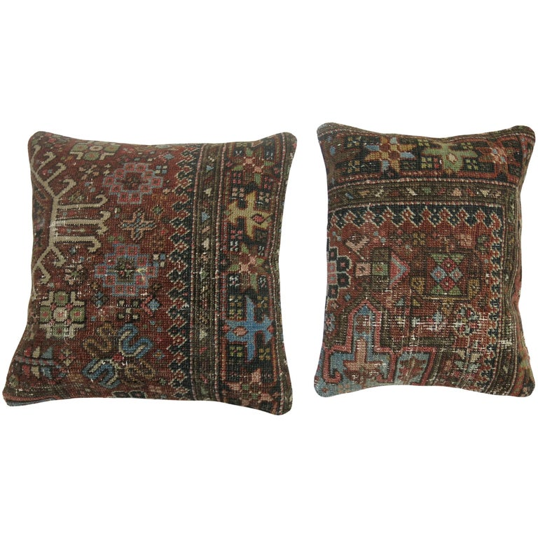 Antique Persian Heriz Pillows