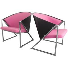 Memphis Style Mondi Soft Chairs by Jouko Jarvisalo for Inno, Finland, 1985