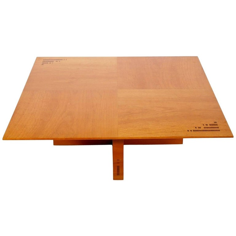 Jaume Tresserra Marquetry Walnut Coffee Table For Sale