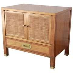 Baker Furniture Milling Road Campaign Style Nightstand
