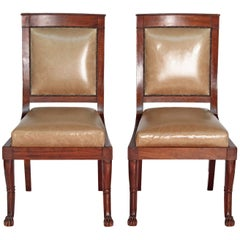 Pair of French Neoclassic Period Chairs