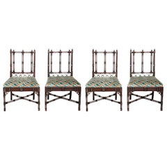 Group of Georgian Revival Chinese Chippendale Style Chairs