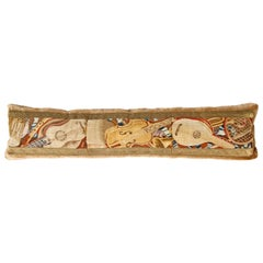 Long Tapestry Pillow with Musical Instruments