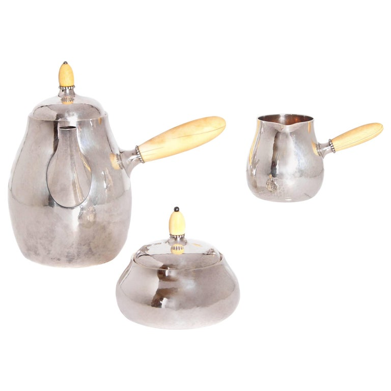 Sterling Silver Coffee Set by Georg Jensen 1