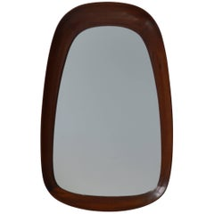 Vintage Wood Frame Mirror, 20th Century, Danish