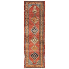 Late 19th Century Antique Persian Bakshaish Rug with Tribal Medallions in Red
