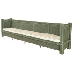 American Green Oversized Painted Settee