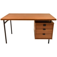 Desk in Teak with Four-Drawer circa 1965 Made in USA