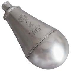 George III Drinking Flask Modelled as a Gunpowder Flask