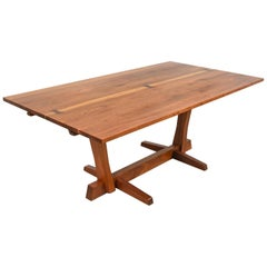 George Nakashima Conoid Dining Table in Walnut with Rosewood Keys, 1970s