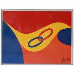 "Alexander Calder ""Friendship Rings"" Lithograph, 1974"