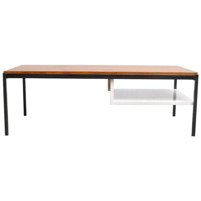 Coen de Vries Teak  and Metal Coffee Table 1