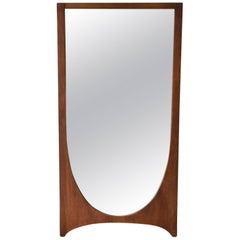 Broyhill Brasilia Mid-Century Modern Walnut Framed Mirror, 2 Available