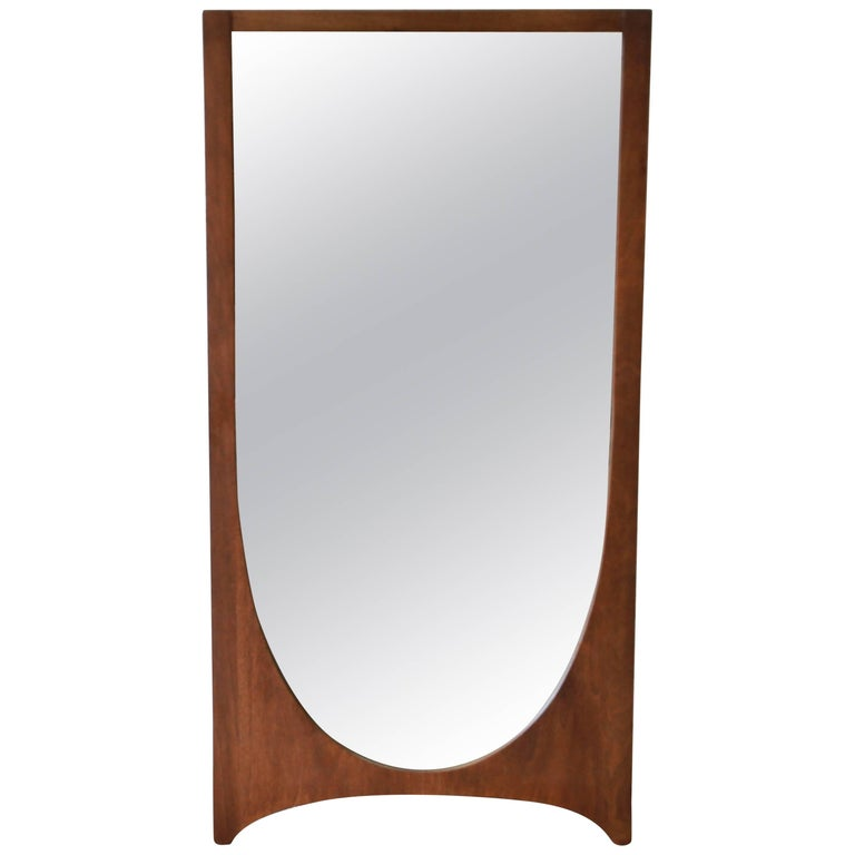 Broyhill Brasilia Mid-Century Modern Walnut Framed Mirror