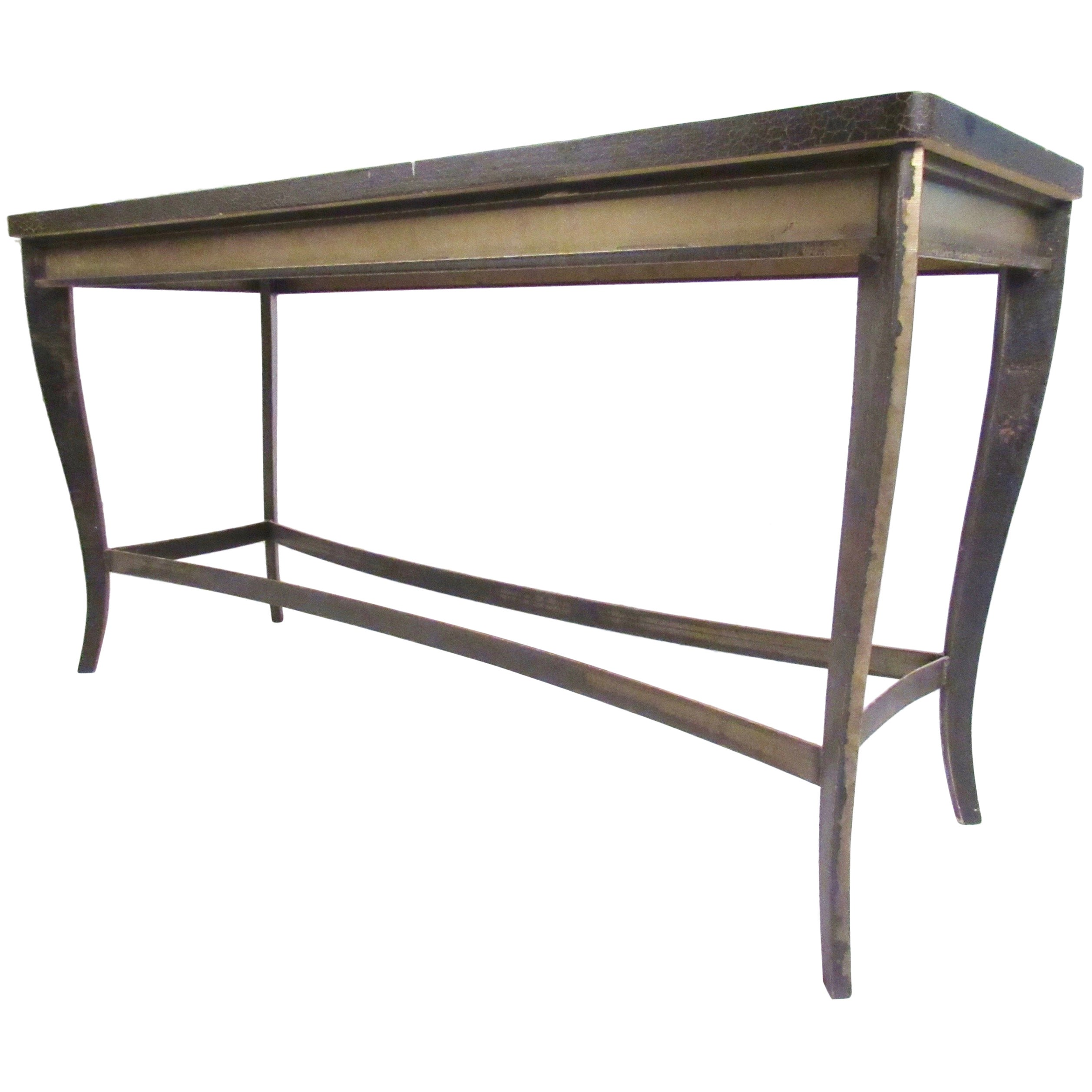 Vintage Modern Decorator Style Console Table
