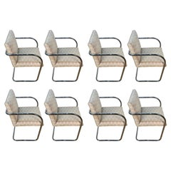 Eight Mid-Century Brono Tubular Chairs, Designed by Ludwig Mies van der Rohe