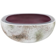 Murano Glass Crater Bowl by Barbini