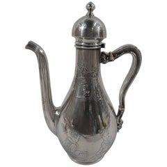 Whiting Japonesque Sterling Silver Coffeepot with Geishas & Dragonfly