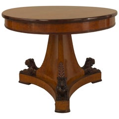 French Charles X Amaranth Wood Centre Table