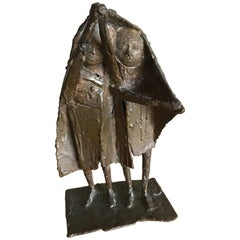 Bay Area Bronze Surrealist / Brutalist Figurative Sculpture