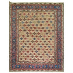 Antique Persian Square Bakshaish Rug