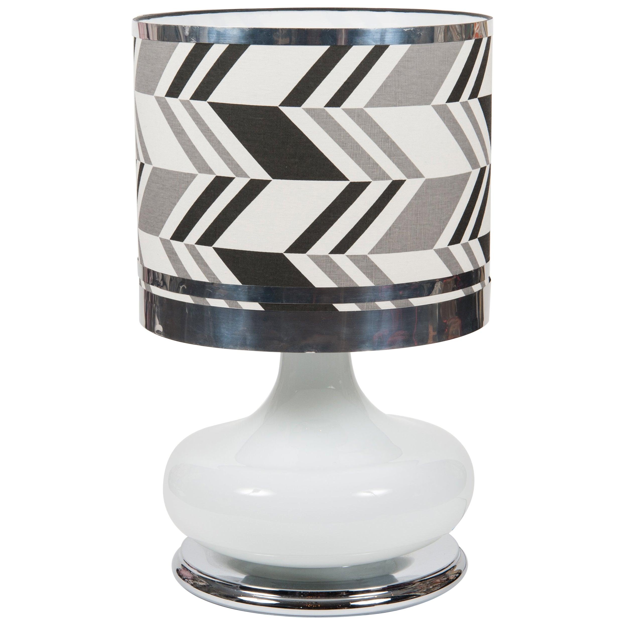 White Glass Table Light