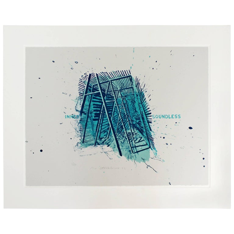 Unframed Signed Dated Numbered Robert Stackhouse Inner Soundless Lithograph 1992