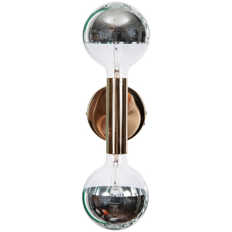 Double Bulb Sconce For Sale