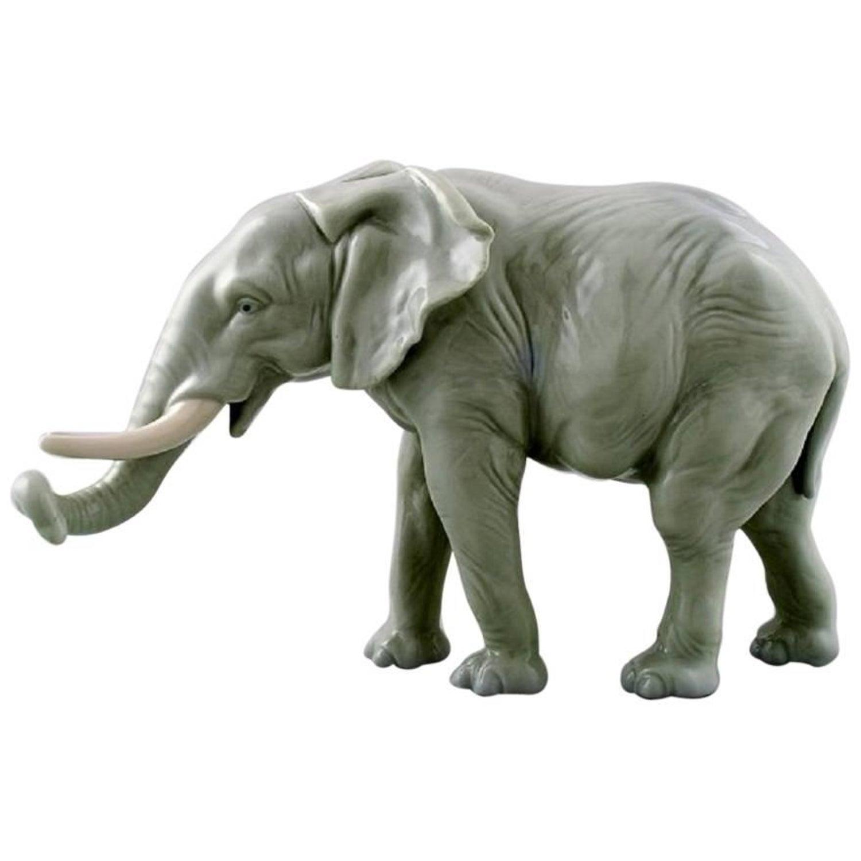 Karl Ens, Germany Porcelain Figurine Large Elephant