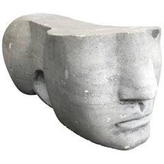 Honed Grey Stone Sculpture