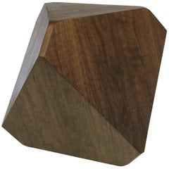 William Earle Hal Faceted Stool or Side Table in Dark Walnut