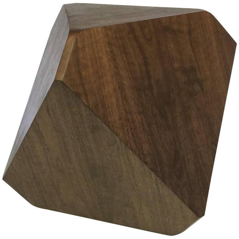 "William Earle ""Hal"" stool in dark walnut"